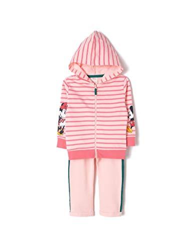 ZIPPY Chándal Minnie Mouse, Rosa (Cristal Pink 12/1605 Tcx 2620), 86 (Tamaño del Fabricante:18/24M) para Bebés