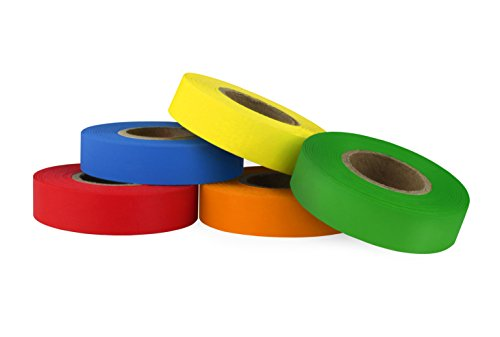 ChromaLabel Color-Code Labeling Tape Variety Pack, 5 Assorted Colors, 500 inch Rolls,1/2 inch