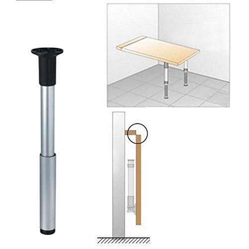 Furniture legs Pata de Mesa Plegable Regulable en Altura Patas de Muebles Telescópica Abatible Pie Extensible para Barra de Desayuno y Encimera 1 Pieza