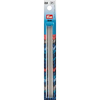 Inox Double Pointed Knitting Needles 6 inch Size 0  2mm