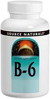 Source Naturals Vitamin B-6, 50 mg Immune System Support - 100 Tablets