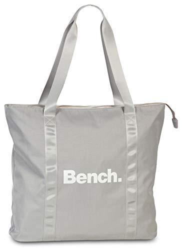 Bench. Damen Schulter Tasche Shopper Henkeltsche schwarz grau 43 x 40 cm (grau)