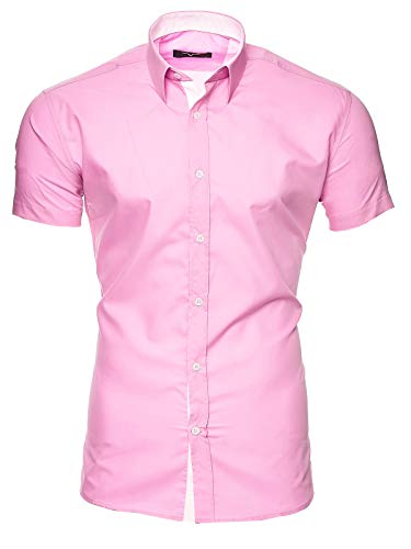 Kayhan Homme Chemise Manches Courtes, Florida Rose M