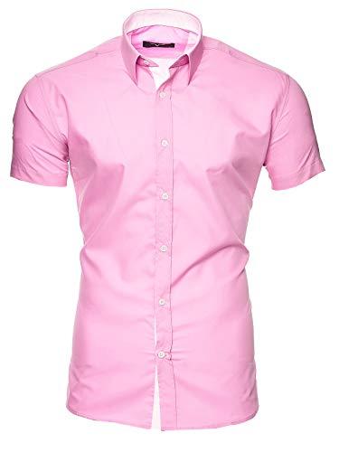 Kayhan Herren Kurzarm Hemd Florida Rose XL