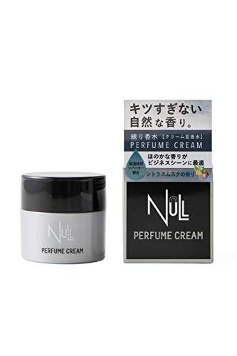 NULL パ匕ュームクリーム メンズ 香水 クリーム 30g 香水の持続力、香りに不満がある方へ【シトラス】