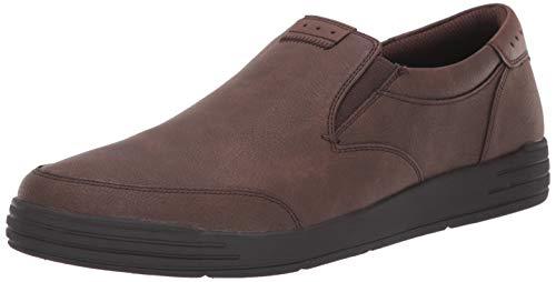 Nunn Bush Men KORE City Walk Moccasin Toe Sneaker Style Slip On Loafer Shoe, Dark Brown, 8.5 M US