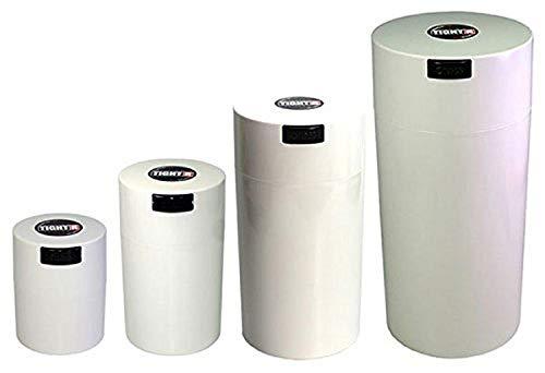 Tightpac America, Inc. TIGHTVAC gigognes Lot de 4 boîtes de Rangement Produits emballé sous Vide à Sec, 4 Tailles : 70 cl, 12 onces, ininflammable, 3-Ounce, Blanc PAC/Corps Blanc