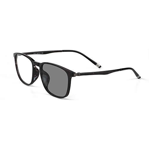 EnzoDate Gafas De Lectura Progresiva Transición Fotocromáticos Ordenador Lector Multi Focus No Nerd Retro UV400 Gafas De Sol Línea Progresiva Varifocal