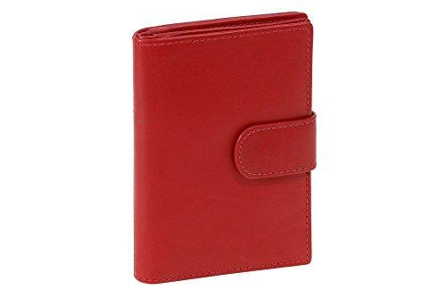 LEAS Ausweis und Kreditkartenmappe Echt-Leder, rot Card-Collection