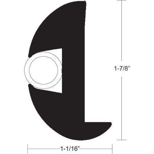 Taco Metals TACO Flex Vinyl Rub Rail Kit - Black w/White Insert - 50' -  V11-2423BWK50-2