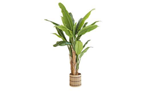 LIFA LIVING Planta de Plátano Artificial, Planta de Plátano Artificial para Decoración, Planta de Plátano de Apariencia Real Decorativa para Dormitorio y Oficina 195x110 cm