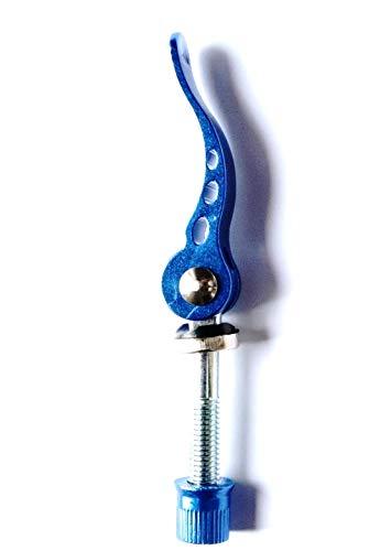 CarbonEnmy Mehr Farbe 2 St Fahrrad Schnellspanner Quick-Release Sattelklemme M8x55 mm (Blau)