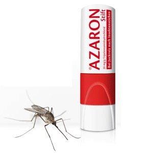 Azaron Stift Spar-Set 3x5,7g. Mit sofortiger Wirkung bei Juckreiz nach Insektenstichen, ideal für die Haus- und Reiseapotheke