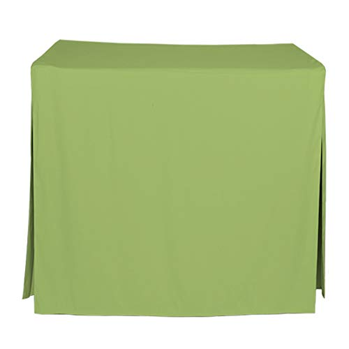 "Tablevogue Event Linens Washable Microfiber 34"" Inch Fitted Tablecloth Cover for Square Buffet Table, Parties, Holiday Dinner & More, Pistachio"