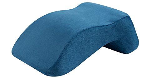 KINDOYO Espuma viscoelástica Lento Rebote Almohada de Viaje Oficina Siesta Almohada 15 Minutos de Pan – Cuello Almohada de Apoyo Oficina Mesa y sillas Azul Real