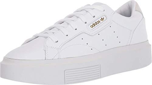 adidas Originals Women's Sleek Super Sneaker, Crystal White/Black, 7 M US