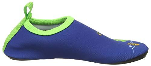 Playshoes Unisex-Kinder Badeslipper, Krokodil, Blau - 6