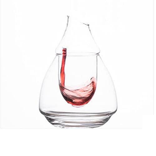 YWSZJ 200ml Glas Wein Flasche Loch wegen Glaseis JUG Hamster Nest Kühlraum Bierkühler Mini Geschenk Wein Carafe Superior Dekanter