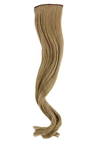2 Clips Extension avec mèches ondulés, blond clair cendré YZF-P2C18-24 45cm/ 18inch Extension capillaire postiche Teinte: 24