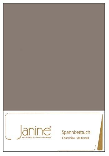 Janine Flanell Biber Spannbettlaken 90 - 100 x 200 (taupe)