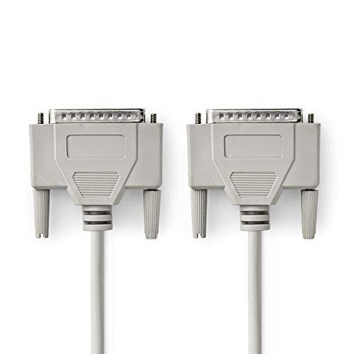 NEDIS Serielles Kabel Serielles Kabel | D-Sub 25-Pin Stecker | D-Sub 25-Pin Stecker | Vernickelt | 1.00 m | rund | PVC | Elfenbein | Plastikbeutel 2.00 m 2.00 m