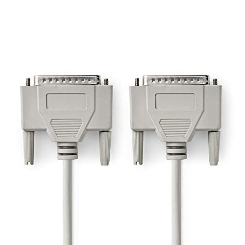 NEDIS RS232 Kabel | D-Sub, 25-poliger Stecker - D-Sub, 25-poliger Stecker | 2,0 m | Elfenbeinfarben
