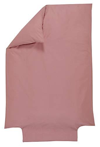 P'tit Basile - Housse de couette bébé 100% Coton Bio - 100x140 cm - Bois de Rose - Coton de qualité supérieure certifié Gots et Oekotex