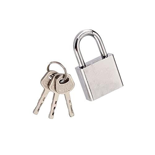 Candado de bloqueo de seguridad, Candado de acero inoxidable de 30 mm Caja fuerte de la puerta de la puerta de la puerta de la puerta de seguridad sólida para almacén, garaje, cobertizos,