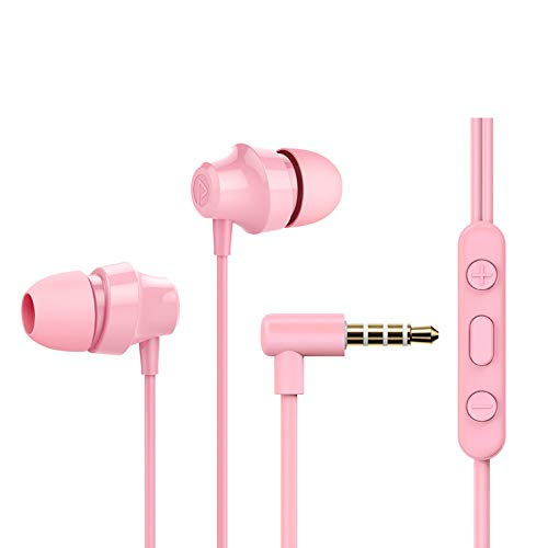 in-Ear Wired Earphones, Earbuds with Microphone and Volume Control, Headphones Crystal Clear Sound, Ergonomic Comfort-Fit