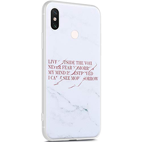 Surakey Marmor Hülle für Xiaomi Redmi S2 Hülle,Transparent TPU Silikon Handyhülle Schutzhülle für Xiaomi Redmi S2,Weiß Marmor Muster Ultra Dünn Silikon TPU Bumper Rückschale Case Cover, 3