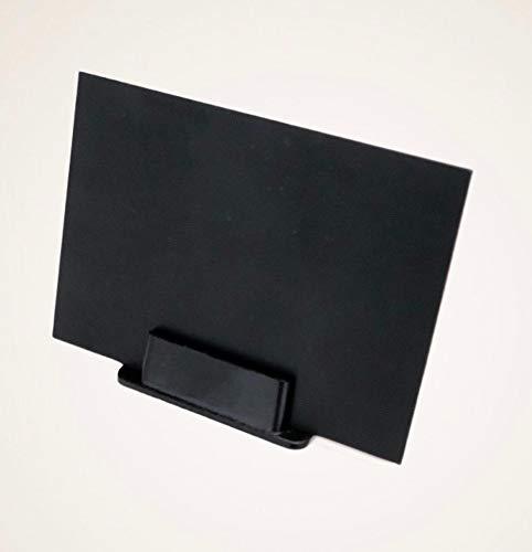 Kit de 100 tarjetas portaprecio + 100 bases negras