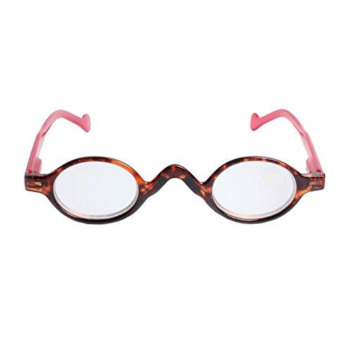 MU CHAOHAI Schattige kleine Ronde Plastic Spring Heeled Vergrootglas Leesbril