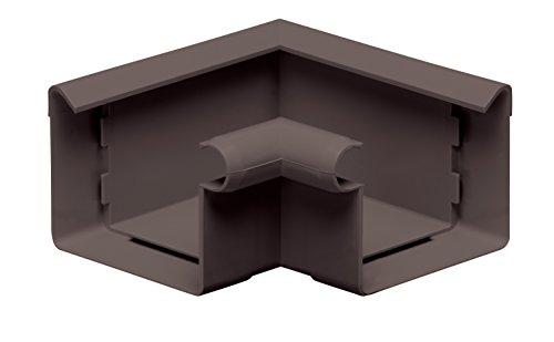 INEFA Rinnenwinkel 90°, kastenförmig, Wulst innen Dunkelbraun NW 68 - Kunststoff