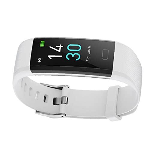 FeelMeet Actividad Inteligente Reloj Pulsera rastreador de Ejercicios S5 Temperatura del Ritmo cardíaco del sueño a Prueba de Agua Mujeres Hombres Blanca