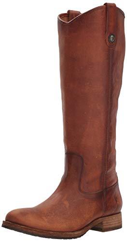 FRYE Women's Melissa Button Lug Tall Boot, Cognac, 6 M US