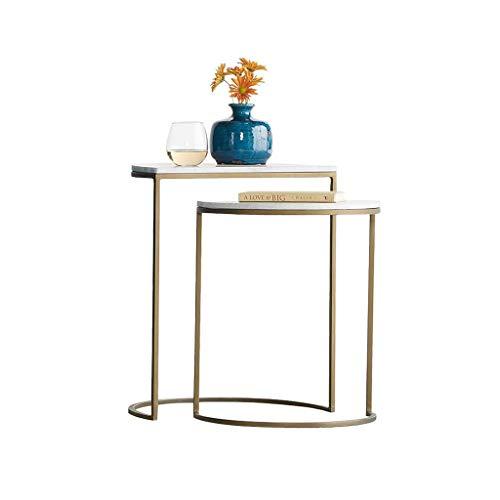 YAQ-Muebles de oficina Inicio Tablas Sofá, Suelos de mesas de centro moderna Sala Moderna lado del extremo de la tabla estable duradero tabla de combinación Mesas de pedestal ( Color : White )