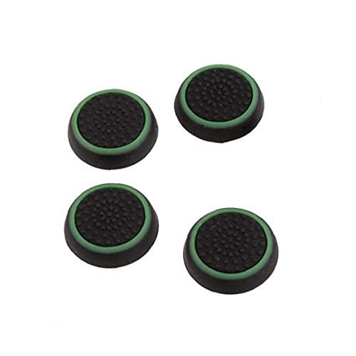 Maidi Thumb-Stick Griffe Caps Silikon Joystick Abdeckung Steckdose und Stecker-Adapter-Game-Controller-Schutz Kompatibel mit Ps3 Ps4 Xbox 360 Xbox One-Schwarz-Grün 4 Stück