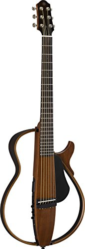 Yamaha SLG200S NT Steel String Silent Guitar with Hard Gig Bag, Natural