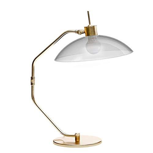 xiaox5 Lámpara de mesita de noche, revestimiento dorado, pantalla de cristal, salón, dormitorio, lámpara de noche, decoración, lámpara de mesa, lectura