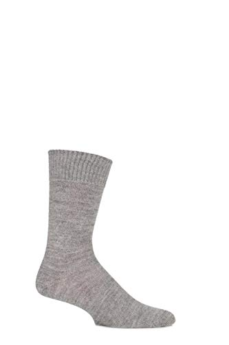 J. Alex Swift Herren & Damen 1 Paar Plain Alpaka Socken 11-13 Unisex Natural Grey