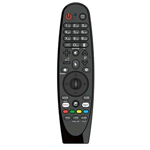 Shy-RC Control Remoto AEU Magic AN-MR18BA AKB75375501 Ajuste de reemplazo para LG Smart TV (Color : Negro)