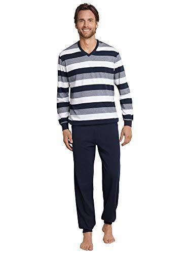 Schiesser Anzug Lang Conjuntos de Pijama, Azul (Dunkelblau 803), XXXXXL para Hombre