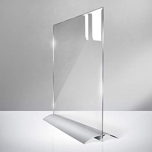 Mobiler Thekenständer Spuckschutz-Niesschutz - Hochformat - 42 x 59,4 cm (DIN A2) - 2 mm Polycarbonat klar - von ALUTECH