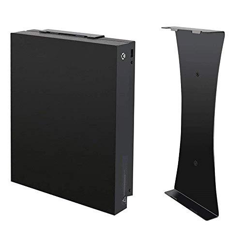 Soporte de Pared Vertical Negro para Consola Xbox One X, Soporte de Pared Xbox One X, Soporte de Pared Vertical