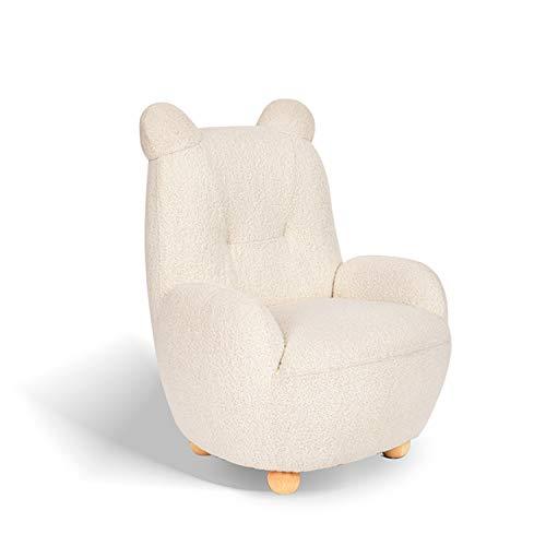QWERTP Children Sofa, Cartoon Girl Princess Cute Bear Animal Small Sofa Reading Corner Baby Sofa Chair, Soft Cloth Covered with Fabric