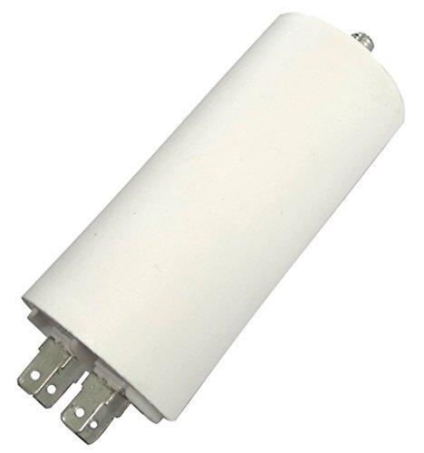 AERZETIX: Condensatore permanente di lavoro per motore 30µF 450V con capicorda 6.3mm C18674