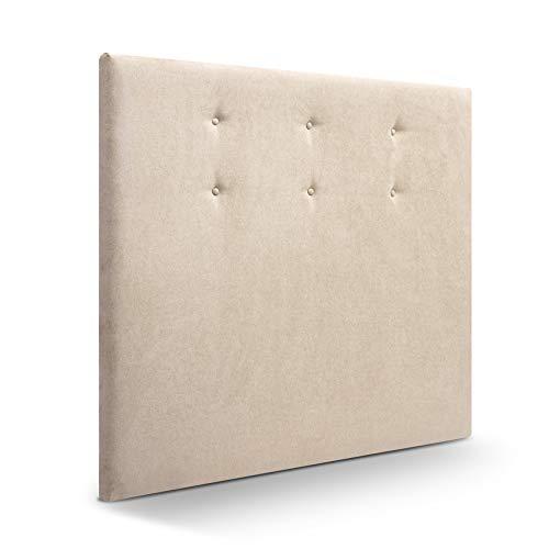 SUENOSZZZ-ESPECIALISTAS DEL DESCANSO Cabecero de Cama Bruselas tapizado en Tela para Camas de 150 (160 x 120 cm) Tela Beige