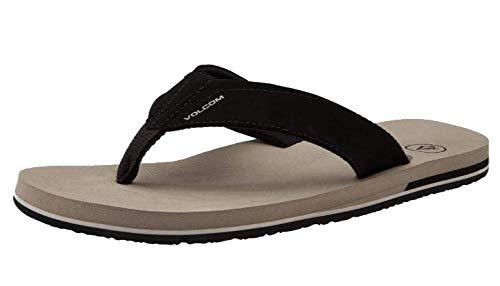 Volcom Men's Victor Flip Flop Sandal, Khaki, 9 M US