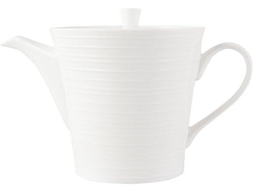 MIKASA - Teiera con Design scanalato, Collezione Ciara, Porcellana, White, 25 x 14 x 25 cm