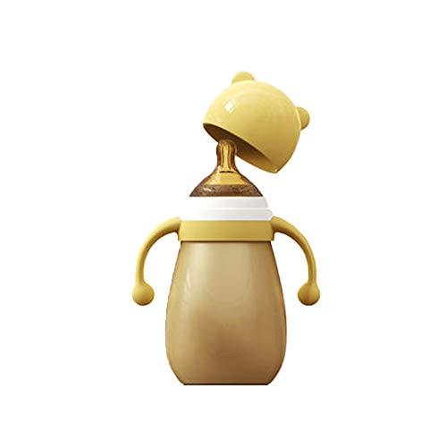 Lucun - Botella de Acero Inoxidable con Aislante para niños (240 ml), metálico, 240 ml